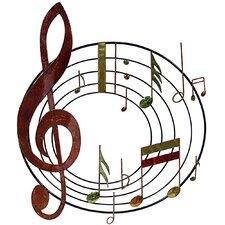 Wanddekoration Violinschlüssel