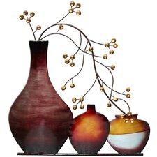 Wanddekoration Vasen