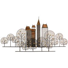 Wanddekoration Stadtsilhouette