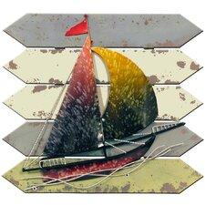 Wanddekoration Saba Segelschiff