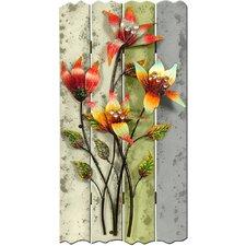 Wanddekoration Saba Blumen