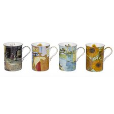 Van Gogh 4 Piece 0.29L Fine China Mug Set