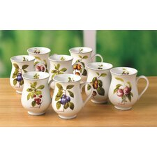 Orchard Fruit 8 Piece 0.33L Porcelain Mug Set