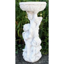 Stone Effect 3 Cherub Jardiniere or Bird Bath