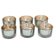 Glass Tea Light Holders (Set of 6)
