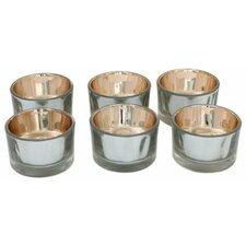 Glass Tea Light Holders (Set of 6)