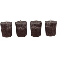 4 Piece Cinnamon Spice Votive Candle Set (Set of 4)