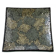 Mosaic Square Glass Plate