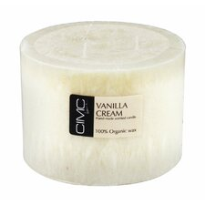 Vanilla Cream Pillar Candle