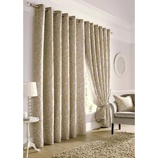 Kiribati Lined Eyelet Curtain Panel (Set of 2)
