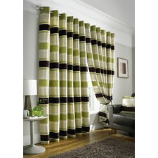 Philip Lined Eyelet Curtain Panel (Set of 2)