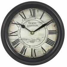 23.5cm Hotel D'Anton Rustic Round Wall Clock