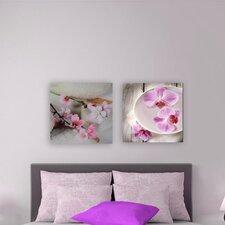 Wanddekoration Orchideenzweig