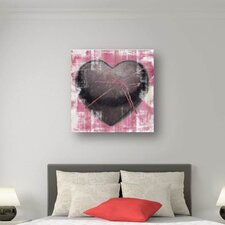 Wanddekoration Pink Coeur