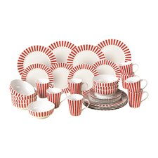Porcelain 32 Piece Dinnerware Set