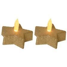 2-tlg. LED-Teelichtleuchten-Set Starry