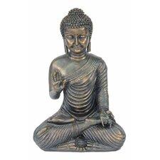 Statue Buddha im Lotussitz, meditierend
