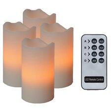 4-tlg. LED-Wachskerzen-Set