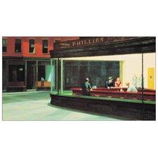 "Wandbild ""Nighthawks"" von Edward Hopper, Grafikdruck"