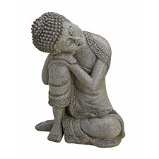 2-tlg. Statue Buddha