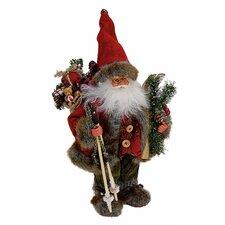 Figur Nikolaus mit Skier