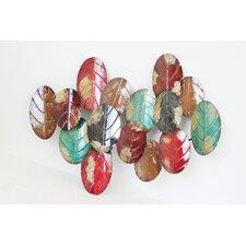 Wanddekoration Multicoloured Leaves Batch