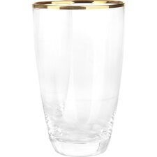 8 Piece Glass Set in Gold Rim
