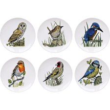 6-tlg. Teller-Set British Bird
