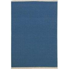 Handgefertigter Teppich Colmar in Blau