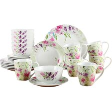 Porcelain 24 Piece Dinnerware Set