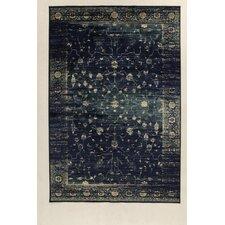 Teppich Vintage Marsan in Navyblau