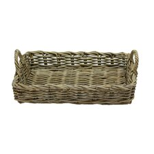 Rattan Tray Basket in Grey