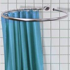 Duschvorhangschiene und Duschvorhangringe aus Edelstahl