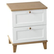 Penzance 2 Drawer Bedside Table