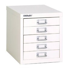 Bisley 5-Drawer Vertical Filing Cabinet