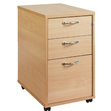 Tall 3-Drawer Mobile Vertical Filing Cabinet