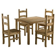 Traditional Corona Dining Table and 4 Chairs