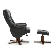 Agery Recliner and Footstool