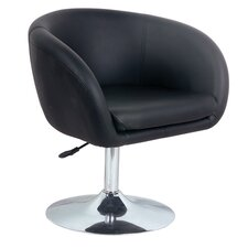 Leather Effect Lounge Stool