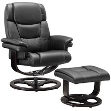 Round Recliner and Footstool