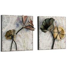 2-tlg. Wanddekoration Florales & Botanisches