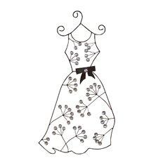 Wanddekoration Kleid