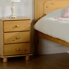 Dea 3 Drawer Bedside Table