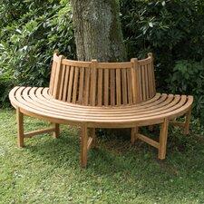 Halbrunde Baumbank Kapuas aus Teak