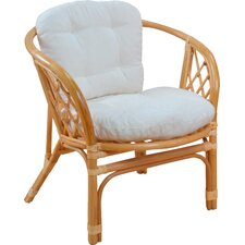 2-tlg. Sessel mit Kissen