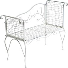 3-Sitzer Gartenbank Hauroko aus Metall