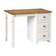 Tehama 3 Drawer Single Pedestal Dressing Table
