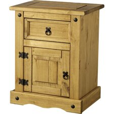 Classic Corona 1 Drawer Bedside Table