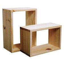 2-tlg. 2-tlg. Wandregal-Set Cube