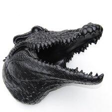 Faux Taxidermy Alligator Head Wall Décor